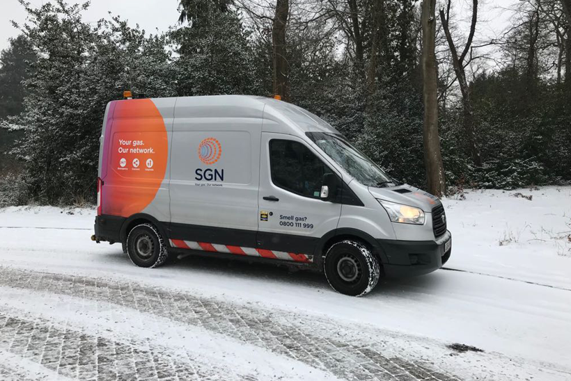 SGN van in the snow